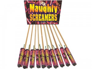 Zestaw rakiet  NAUGHTY SCREAMERS 10 szt kaliber 7mm